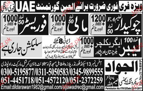 Chawkidars, Malis, Foresters and Labors Job Opportunity