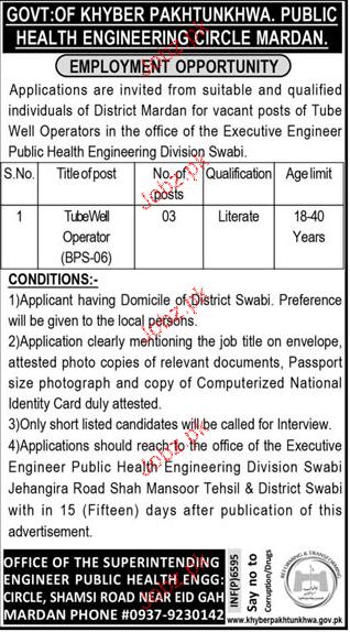 Public Health Engineering Department PHED Jobs