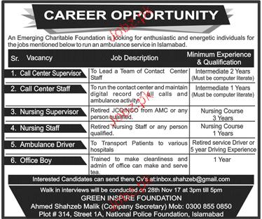 Green Inspire Foundation Jobs