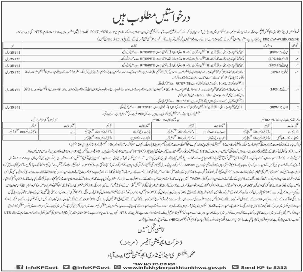 Elementary & Secondary Education Department ESED Jobs NTS