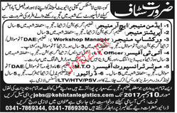 Admin Manager, Workshop Manager Job Opportunity