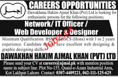 Network / IT Officers / Web Developers and Designers Wanted