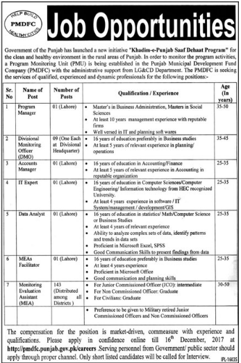 Program Manager, DMO, Accounts Manager & IT Expert Jobs