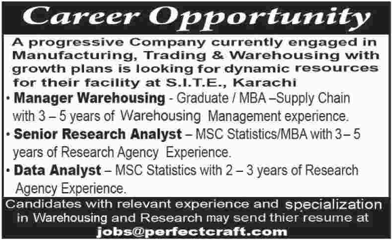 Manager, Senior Research Analyst & Data Analyst Jobs