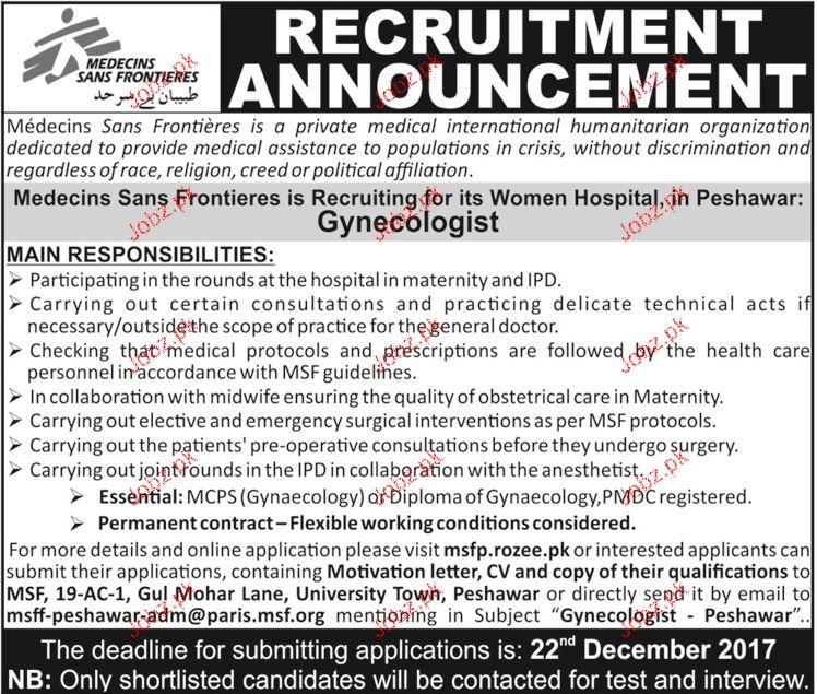 Female Gynecologists Jobs