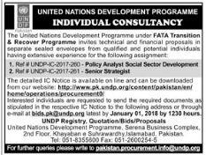 UNDP Need Policy Analyst & Senior Strategist
