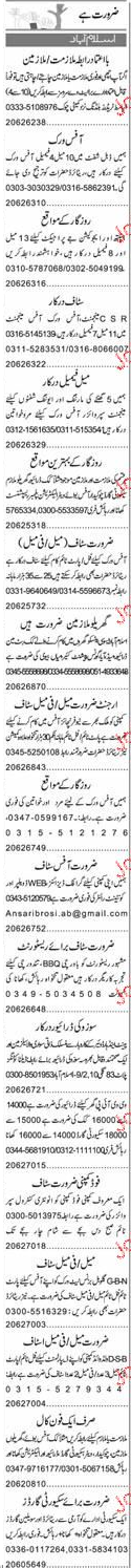 Office Manager, Assistants, Electricians Job Opportunity