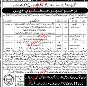 Wild Life Protection Department District Bannu Jobs