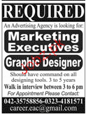 Graphic Designers and Marketing Executives Job Opportunity