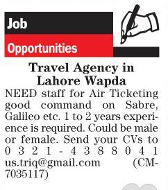 Air Ticketing Job Opportunities
