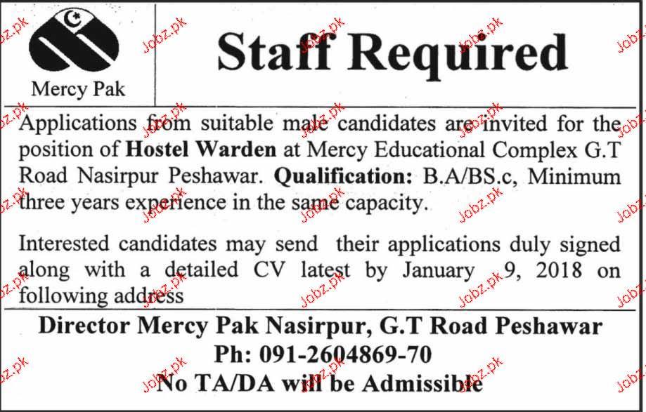 Hostel Warden Job Opportunity