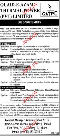 Punjab Thermal Power Pvt Ltd Jobs