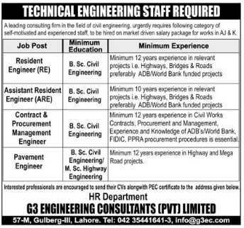 Resident Engineer Required For Private Company