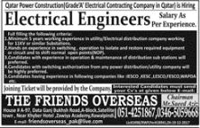 Electrical Engineers Required For Qatar