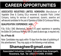 Associated Industries Limited Nowshera Jobs