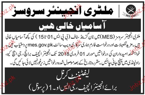 Military Engineering Services MES Jobs