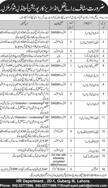 Thal Industries Corporation Limited  Jobs