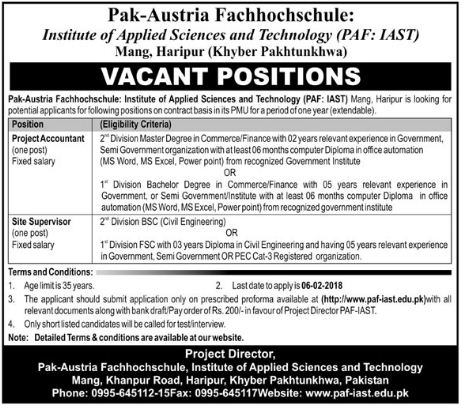 Institute of Applied Sciences & Technology Jobs Accountant