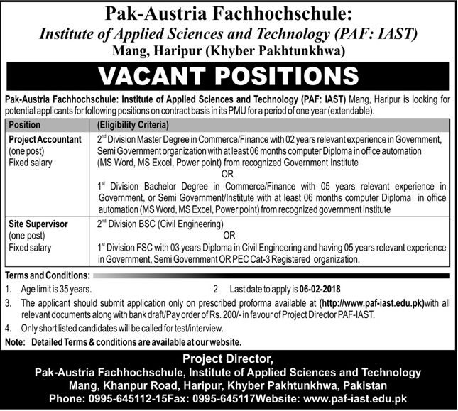 Institute of Applied Sciences & Technology IAST Jobs