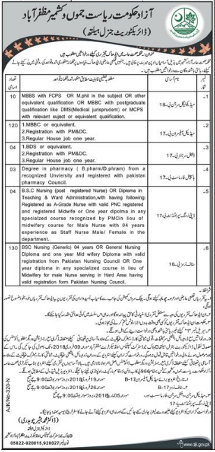 Directorate General Health AJK Jobs 2018 for Medical Officer