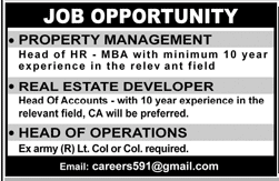 Property Management Head of HR Job Opportunity