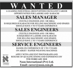Sales Managers, Sales Engineers Job Opportunity