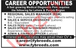Regional Sales Manager & Sales & Service Engineers Jobs