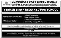 Knowledge Core International School & College Jobs 2018