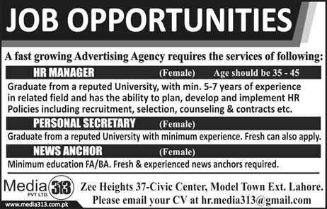 Female HR Manager, Personal Secretary Job Opportunity