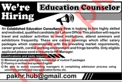 Education Counselor Jobs in Lahore