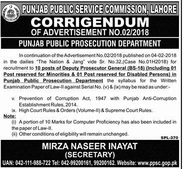 Public Prosecution Department Jobs Through PPSC
