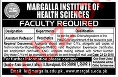 Margalla Institute of Health Sciences Islamabad Jobs 2018