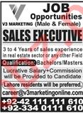 V3 Marketing Lahore Jobs for Sales Executive