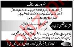 Multiple Skill Job For Pak Army Commandos battalion SSG