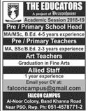 The Educator Al Noor Colony Campus  Teachers Jobs