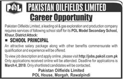 Pakistan Oilfields Ltd POL  School Principal Jobs