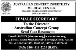 Australian Concept Infertility Medical Center Jobs 2018