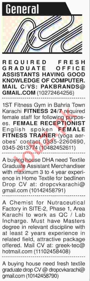 Daily Dawn Newspaper Classified Jobs 2018