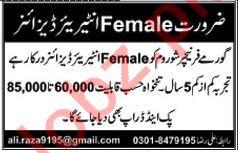 Gourmet Furnishers Lahore Jobs Female Interior Designer