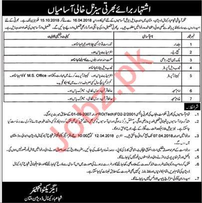 Shujabad Canal Division Multan Jobs 2018