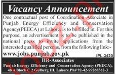 PEECA Punjab Energy Efficiency & Conservation Agency Jobs