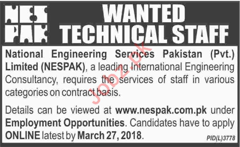 Technical Staff for NESPAK