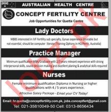 Concept Fertility Centre CFC Job Opportunities