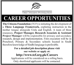 The Citizen Foundation TCF Project Manager Jobs