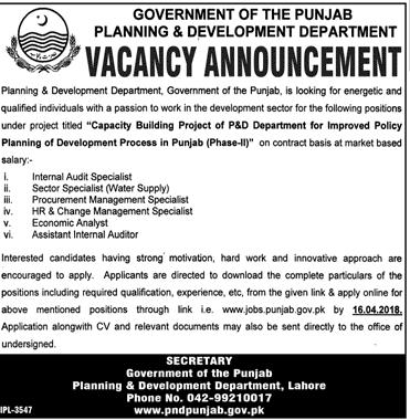 Planning and Development Department Job 2018