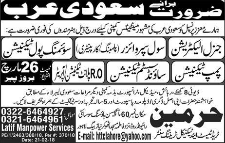 General Electricians, RO Plant Technicians / Operator Wanted