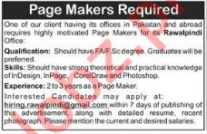 Page Makers Jobs Open in Rawalpindi 2018