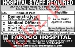 Farooq Hospital Job Opportunities