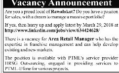 Area Retail Manager Job Opportunity
