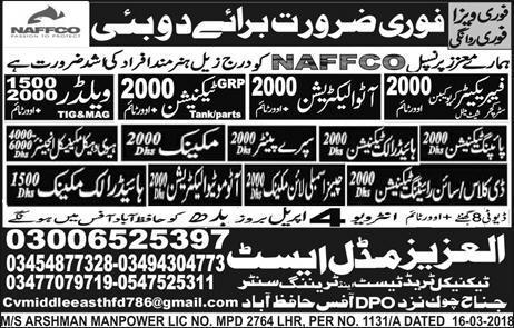 Fabricators, Auto Electricians, GRp Technicians Wanted
